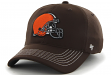 "Cleveland Browns 47 Brand NFL ""Game Time"" Brown Stretch Fit Hat"