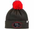 "San Francisco 49ers 47 Brand NFL ""Justus"" Cuffed Knit Hat - Charcoal"