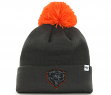 """Chicago Bears 47 Brand NFL """"Justus"""" Cuffed Knit Hat - Charcoal"""
