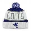 Indianapolis Colts 47 Brand NFL Throwback Calgary Cuffed Knit Hat