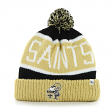 New Orleans Saints 47 Brand NFL Throwback Calgary Cuffed Knit Hat