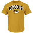 "Missouri Tigers Majestic NCAA ""Arch Mascot"" Men's Gold T-Shirt"