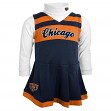 Chicago Bears NFL Toddler Girls Cheer Jumper Dress Set w/ Turtleneck