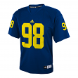 Michigan Wolverines Adidas NCAA # 98 Youth Football Premier Jersey - Navy