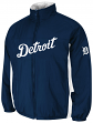 Detroit Tigers Majestic MLB On-Field Double Climate Therma Base Jacket