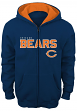 "Chicago Bears Youth NFL ""Stated"" Full Zip Hooded Sweatshirt"
