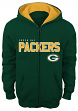 """Green Bay Packers Youth NFL """"Stated"""" Full Zip Hooded Sweatshirt"""