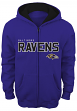 "Baltimore Ravens Youth NFL ""Stated"" Full Zip Hooded Sweatshirt"