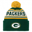 Green Bay Packers Youth NFL Cuffed Knit Hat w/ Pom