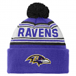 Baltimore Ravens Youth NFL Cuffed Knit Hat w/ Pom