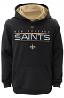 "New Orleans Saints Youth NFL ""Reflect"" Pullover Hooded Performance Sweatshirt"