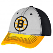 Boston Bruins CCM Throwback NHL Sandblasted Slouch Flex Fitted Hat