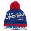 New York Americans CCM Throwback NHL Cuffed Knit Hat w/ Pom