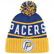 "Indiana Pacers Mitchell & Ness NBA ""High 5"" Cuffed Knit Hat w/Pom - Blue"