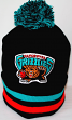 "Vancouver Grizzlies Mitchell & Ness NBA ""Blackout"" Cuffed Knit Hat w/ Pom"