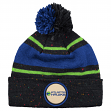 "Atlanta Hawks Mitchell & Ness NBA ""Speckled"" Cuffed Knit Hat w/ Pom"