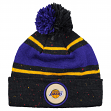"Los Angeles Lakers Mitchell & Ness NBA ""Speckled"" Cuffed Knit Hat w/ Pom"