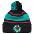 "Vancouver Grizzlies Mitchell & Ness NBA ""Speckled"" Cuffed Knit Hat w/ Pom"