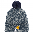 "Indiana Pacers Mitchell & Ness NBA ""Crack Pattern"" Cuffed Pom Knit Hat"