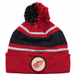 Detroit Red Wings Mitchell & Ness NHL Vintage Speckled Cuffed Knit Hat w/ Pom