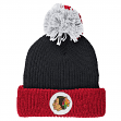 Chicago Blackhawks Mitchell & Ness NHL Vintage Retro Patch Cuffed Knit Hat