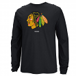 Chicago Blackhawks Reebok NHL Jersey Crest Long Sleeve Men's T-Shirt