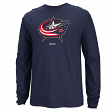 Columbus Blue Jackets Reebok NHL Jersey Crest Long Sleeve Men's T-Shirt