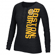 Boston Bruins Women's NHL CCM Tri-Blend Henley Long Sleeve Shirt