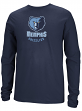 Memphis Grizzlies Adidas NBA Full Primary Logo Long Sleeve T-Shirt - Blue