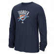 Oklahoma City Thunder Adidas NBA Full Primary Logo Long Sleeve T-Shirt - Blue