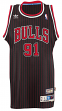 Dennis Rodman Chicago Bulls Adidas NBA Throwback Swingman Jersey - Black
