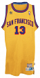 Wilt Chamberlain San Francisco Warriors Adidas Throwback Swingman Jersey - Gold