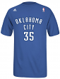 Kevin Durant Oklahoma City Thunder NBA Adidas Player Blue T-Shirt