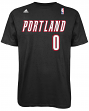 Damian Lillard Portland Trail Blazers NBA Adidas Player Black T-Shirt