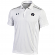 "Notre Dame Fighting Irish Under Armour 2014 Sideline ""Snap"" Polo Shirt - White"