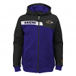 "Baltimore Ravens Youth NFL ""Resilient"" Full Zip Performance Sweatshirt"