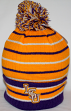 "LSU Tigers NCAA Top of the World ""Gnarly"" Cuffed Knit Hat with Pom"