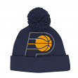 Indiana Pacers Adidas NBA Jacquard Logo Pom Cuffed Knit Hat