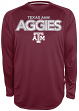 "Texas A&M Aggies Majestic NCAA ""Beast 2"" Long Sleeve Performance Shirt - Maroon"