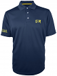 "Michigan Wolverines Majestic NCAA ""Turnover"" Performance Polo Shirt - Blue"