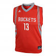 James Harden Houston Rockets Adidas NBA Replica Youth Jersey - Red