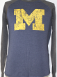 "Michigan Wolverines Majestic ""Syllabus"" Long Sleeve Dual Blend Men's T-Shirt"