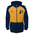 Indiana Pacers Youth Adidas NBA 2014 PreGame On-Court Hooded Full Zip Sweatshirt