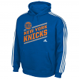 "New York Knicks Youth Adidas NBA ""Playbook Stripe"" Hooded Sweathshirt"