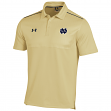Notre Dame Fighting Irish Under Armour Sideline Ultimate Polo Shirt - Gold