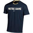 Notre Dame Fighting Irish Under Armour Sideline Performance S/S Shirt - Navy