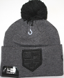 Los Angeles Kings New Era NHL Team Eclipse Cuffed Knit Hat - Charcoal