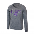 "Kansas State Wildcats NCAA ""Slate"" Long Sleeve Slub Shirt - Charcoal"