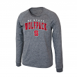 "North Carolina State Wolfpack NCAA ""Slate"" Long Sleeve Slub Shirt - Charcoal"