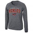 "Virginia Tech Hokies NCAA ""Slate"" Long Sleeve Slub Shirt - Charcoal"